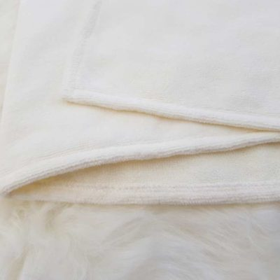 White towelling fabric