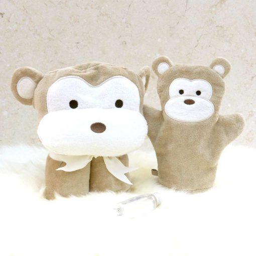 Brown Monkey Baby Gift Set