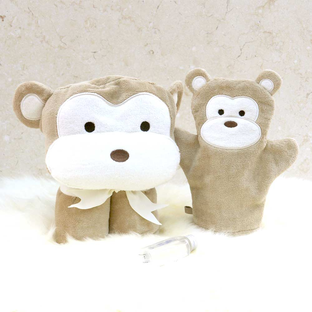 Brown Monkey Baby Gift Set