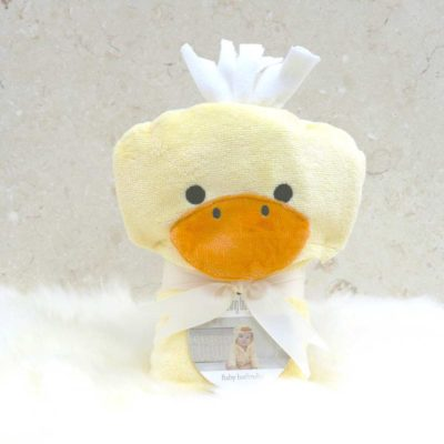 Yellow Duck Baby Hooded Bathrobe