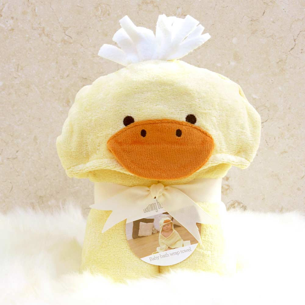 Yellow Duck Hooded Baby Bath Towel