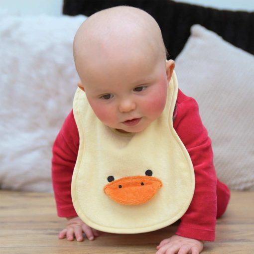 Yellow Duck Baby Bib