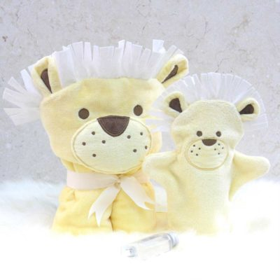 Lion Toddler Poncho Towel Gift Set