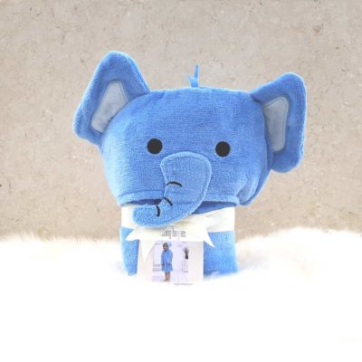 Blue Elephant Hooded Toddler Bathrobe