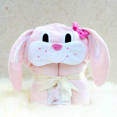 Pink Bunny Toddler Hooded Towel