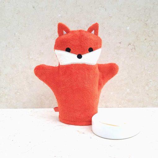 Red Fox Baby Bath Mitt
