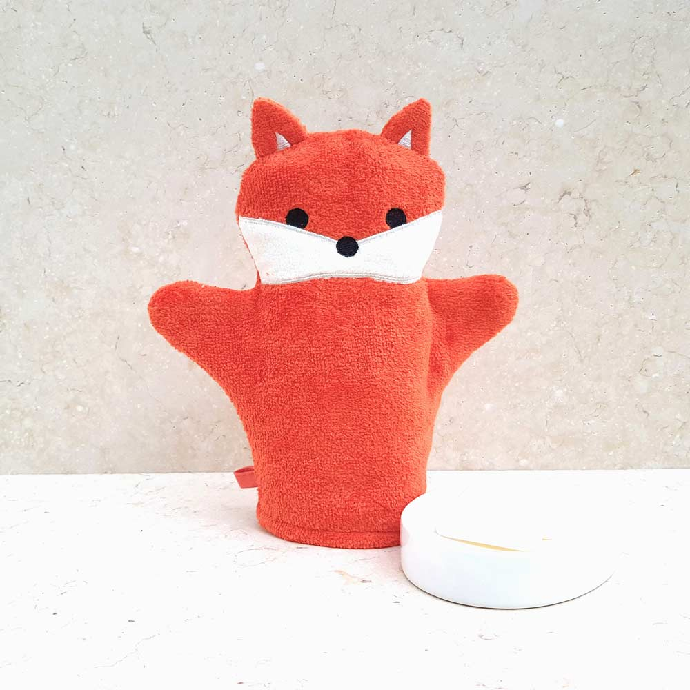 Red Fox Baby Bath Mitt