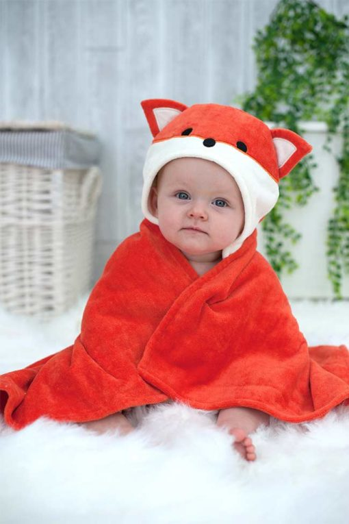 Fox Hooded Towel for Babies