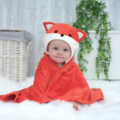 Fox Hooded Baby Towel