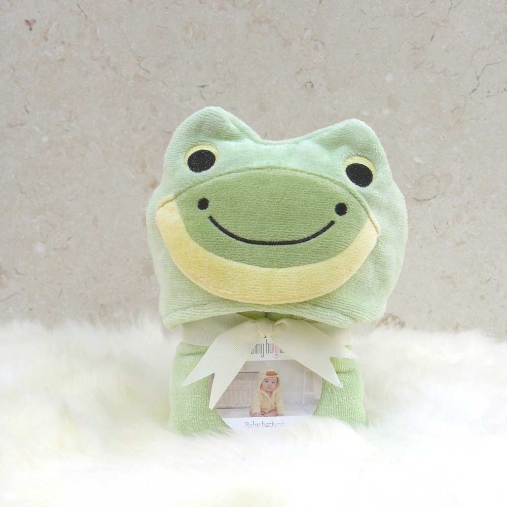 Green Frog Baby Bathrobe