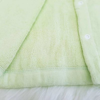 Green Frog Hooded Baby Bathrobe