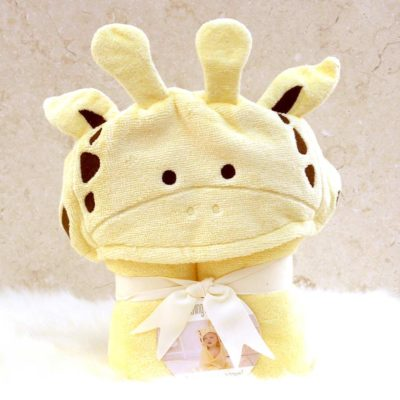 Yellow Giraffe Hooded Towel for Babies
