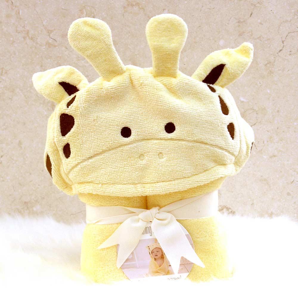 Yellow Giraffe Hooded Towel for Babies