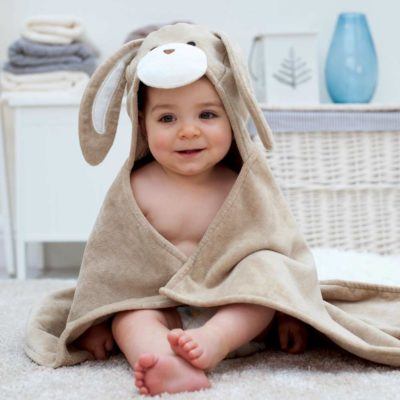 Bunny Hooded Baby Bath Towel