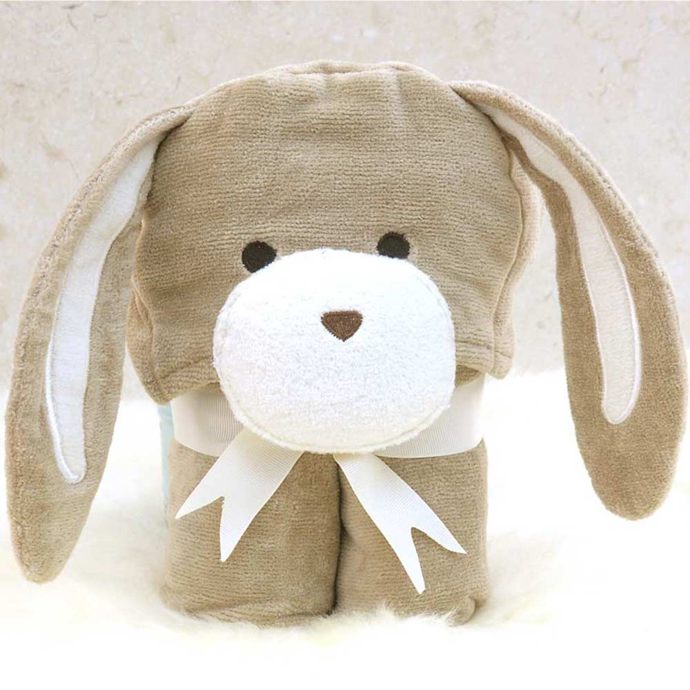 Brown Bunny Baby Hooded Towel