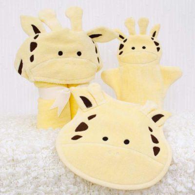 Yellow Giraffe Baby Gift Set