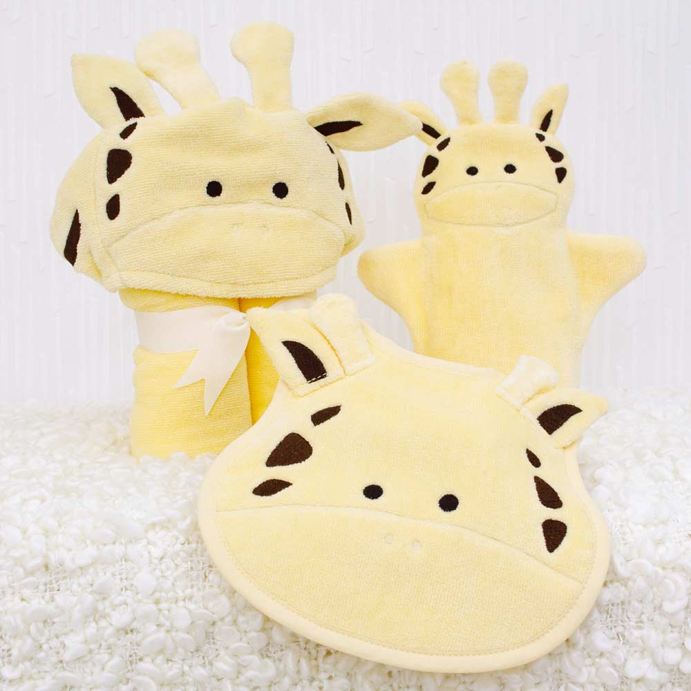 Yellow Giraffe Baby Gift Set