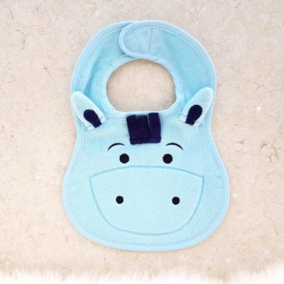 Blue Pony Baby Bib
