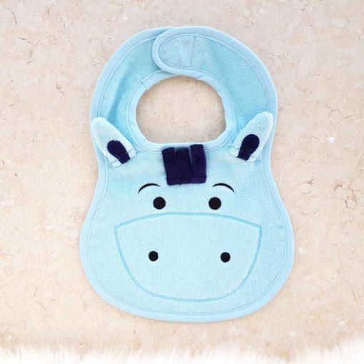 Blue Pony Baby Bib