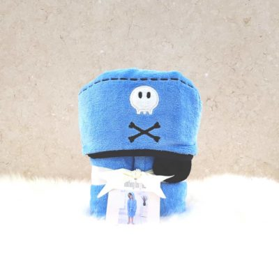 Blue Pirate Hooded Toddler Bathrobe