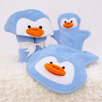 Blue Penguin Baby Gift Set