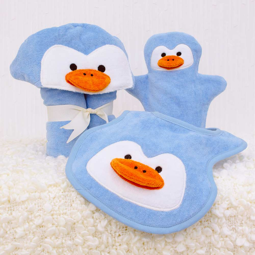 Blue Penguin Baby Gift Set