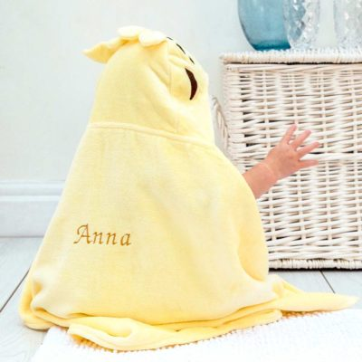 Personalised Giraffe Baby Hooded Towel