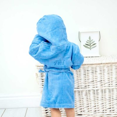 Personalised Blue Toddler Pirate Bathrobe