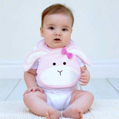Pink Bunny Bib