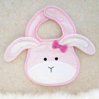 Pink Bunny Baby Bib