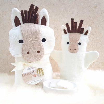 White Pony Baby Gift Set