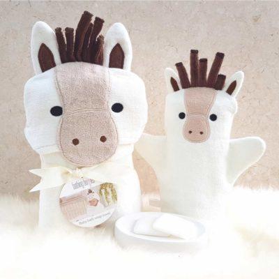 White Pony Baby Gift Set