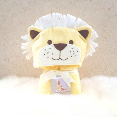 Yellow Lion Hooded Toddler Bathrobe