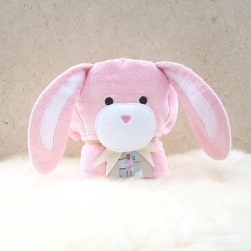 Pink Bunny Toddler Hooded Bathrobe
