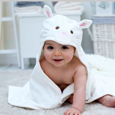 Cat Baby Hooded Towel