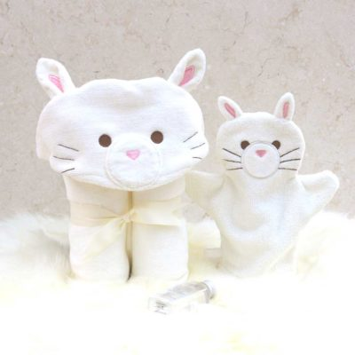 White Cat Baby Gift Set