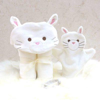 White Cat Baby Gift Set
