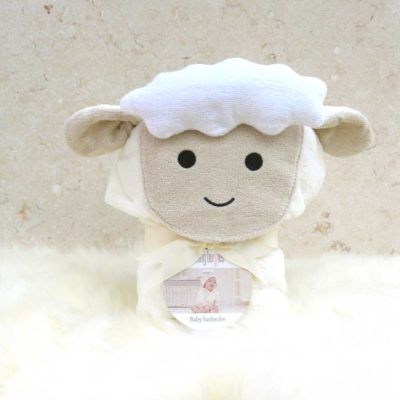 White Lamb Baby Bathrobe