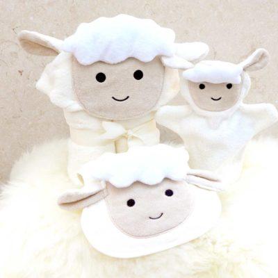 White Lamb Baby Gift Set