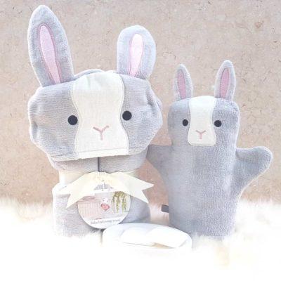 Grey Bunny Baby Gift Set