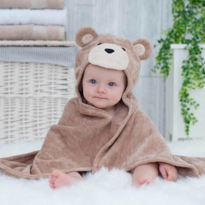 Brown Teddy Hooded Baby Towel
