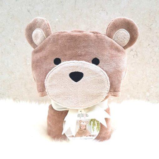 Brown Teddy Hooded Baby Towel
