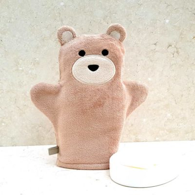 Brown Teddy Baby Bath Mitt
