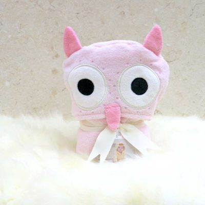 Pink Owl Baby Bathrobe