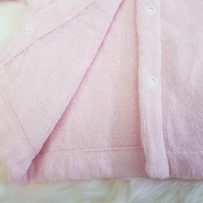 Pink Owl Baby Bathrobe