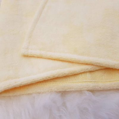 Yellow towelling fabric