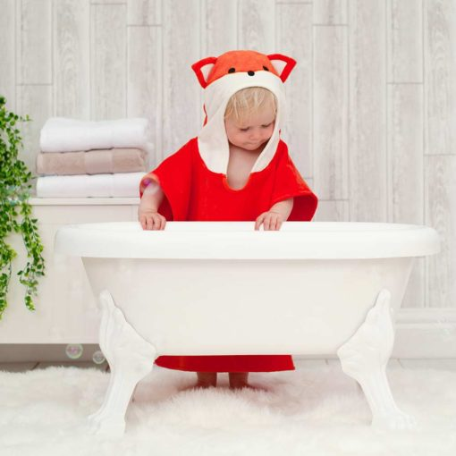 Red Fox Children Towel Poncho