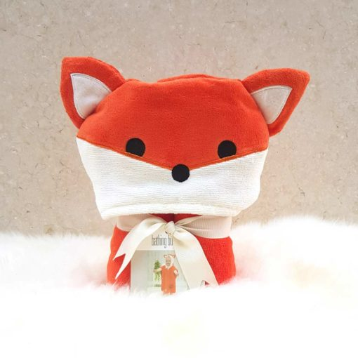 Red Fox Hooded Bath Children Towel Poncho