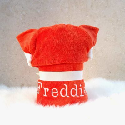 Personalised Red Fox Children Towel Poncho