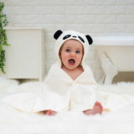 Personalised Little Pumpkin Panda Baby Gift Towel